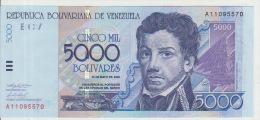 Venezuela 5000 Bolivares 2000 Pick 84 UNC - Venezuela