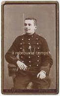 CDV Militaire 1er Régiment-dolman Tresses Noires-grenade Sur Manche-galons Fer De Lance-photo Lanoue à Bourges - Guerre, Militaire