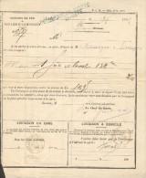PLM  Gare De Besançon-Viotte -Cachet Linéaire -  Bordereau De Livraison Avec Daguin   Sur Type Sage  1885 - Marcophilie (Lettres)