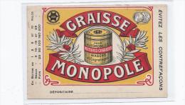 CPA AUTOMOBILE - PUBLICITE - GRAISSE MONOPOLE - TB CP ILLUSTRATION Publicitaire Pour Automobiles - Cartoline