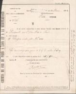 PLM  Gare De Besançon-Cachet Linéaire -  Bordereau De Livraison Avec GC 456 Sur Napoléon 10c Bistre 1864 - Marcophilie (Lettres)