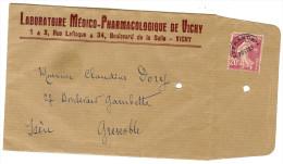 LGM FRANCE - PREO SEMEUSE CAMEE 20c   SUR ENVELOPPE L M PH  (1 DENT MANQUANTE) - Préoblitérés