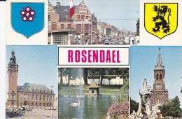 59 NORD ROSENDAEL Multi Vues Avec Blasons - Autres Communes