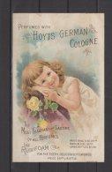 "Hoyt's German Cologne - Perfumed Calendar 1891 - "" Fragrant & Lasting ""   -  "" Use Rubifoam ... "" - Duftkarten"