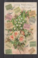 "Hoyt's German Cologne - Ladies Perfumed Calendar 1890 - "" Fragrant & Lasting Of All Perfumes "" - Duftkarten"