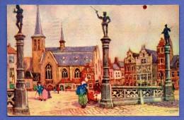 Bruxelles. Place Des Bailles. Aquarelle Henri Cassiers . 1935. Exposition 1935 - Places, Squares