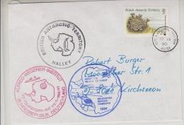 British Antarctic Territory 1990 Halley Cover (20386) - Brits Antarctisch Territorium  (BAT)