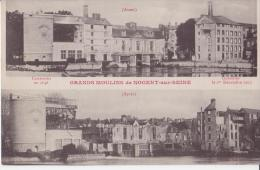 10 GRANDS MOULINS DE NOGENT SUR SEINE AVANT ET APRES CPA BON ÉTAT - Nogent-sur-Seine