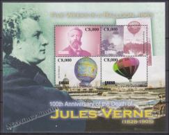 Ghana 2006 Yvert 3126-29, Personality Jules Verne, Writer - MNH - Ghana (1957-...)