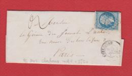Lettre De Cherbourg  --   Pour Paris  --   9 Aout 1858 - Zonder Classificatie