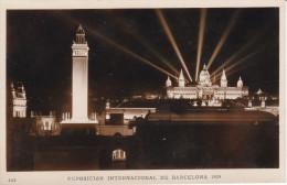España--Barcelona--1929--Vista General De La Exposicion (Nocturna )--Exposicion Internacional De Barcelona- - Exposiciones