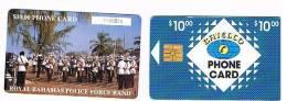 BAHAMAS   - BATELCO CHIP  -  1994 POLICE FORCE BAND -  CODICE BIANCO  (WHITE CODE)    -  USATA° (USED)  -  RIF. 1002 - Bahamas
