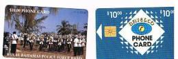 BAHAMAS   - BATELCO CHIP  -  1994 POLICE FORCE BAND -  CODICE NERO  (BLACK CODE)    -  USATA° (USED)  -  RIF. 1003 - Bahamas