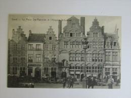 Cp/pk Gand Gent Place Ste-Pharaïlde Hospice St Laurent Veerleplein Vischmarkt Café Star De Graeve TTBE - Gent