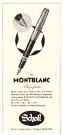 Original Werbung - 1959 - Montblanc , Flügelfeder , Federhalter , Scholl , Zürich !!! - Schreibgerät