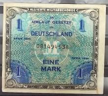 """Geldschein """"Eine Mark"""" Ungefaltet - Alliierte Militärbehörde - Serie 1944 - [ 5] 1945-1949 : Bezetting Door De Geallieerden"""