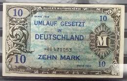 """Geldschein 10 Mark """"Zehn Mark"""" Ungefaltet - Alliierte Militärbehörde - Serie 1944 - [ 5] 1945-1949 : Allies Occupation"""