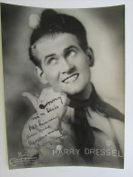 Harry Dressel Gesigneerde Artiesten Foto 22,5 X 16,5 Cm Photo Cabaretier Danse Spirou Signature