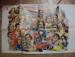 POSTER - AUTOSPRINT   PILOTI F1 1976 - Autorennen - F1