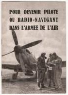 D�pliant de l'Arm�e de l'Air pour le recrutement de Pilote ou Radio-Navigant - 1948