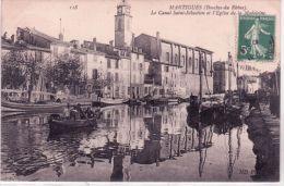 118- MARTIGUES -le Canal Saint-Sébastien Et L'Eglise De La Madeleine - Ed. N D - Martigues