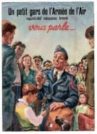MILITARIA - 1948 - D�pliant de l'Arm�e de l'Air - Un Caporal-Chef m�canicien brevet� vous parle....