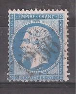 Empire N° 22 Obl GC 1256 De CUNLHAT , Puy De Dôme , Indice 5 + VARIETE Filet Sup Interrompu  ,TB - 1862 Napoleon III
