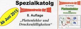 RICHTER Katalog Abarten+PF In Zusammendrucke DDR 2015 Neu 25€ Teil 4 Abart Varianten Se-tenant Special Catalogue Germany - Telefonkarten