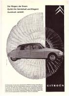 Original Werbung / Reklame - 1959 - Citroen , Modell ID Und DS 19 , Oldtimer , A4 Seite !!! - Voitures