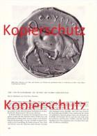 Original Zeitungsbericht - 1959 - Münzen Des Antiken Griechenland , Silbermünze , Distater , Tier- Und Pflanzenbilder !! - Griechische Münzen