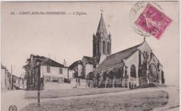 Yvelines :  CONFLANS  STE   HONORINE  : L  église - Conflans Saint Honorine