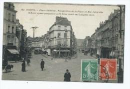 CPA ANIMEE ROUEN, PLACE ST SEVER, PERSPECTIVE DE LA PLACE ET RUE LAFAYETTE, SEINE MARITIME 76 - Rouen