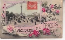 Paris, Carte Souvenir Place De La Bastille - Otros