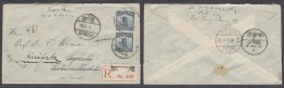 China - XX. Cartas. 1923 (4 July). Peking 22 - Sweden / Upsala - Kinfska. Reverse Via Harbin / Manchuria (8 July) And... - Non Classés