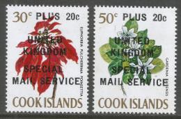 Cook Islands. 1971 UK Postal Strike. MH Complete Set. SG343-344 - Cook