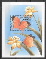 1999 - Mozambique MNH Block 57 FVF Fauna butterflies