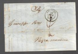 ITALIE Marque Postale Taxée De 1855 De Chiavari Pour Nice - Italia