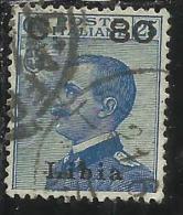 LIBIA 1922 SOPRASTAMPATO D´ITALIA ITALY SURCHERGED CENT. 80 SU 25 C. USATO USED - Libya