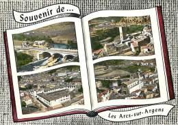 Var -gd Format Div- Ref - N605 - Les Arcs Sur Argens - Carte Souvenir Multi Vues Aeriennes - Carte Bon Etat - - Sainte-Maxime