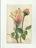 CARTE PHOTO:AUTEL PROVISOIRE FLEURI GUERRE 1914-18 (A IDENTIFIER),AU DOS ROSES SIGNÉE Mne FRISY DE JOIGNY.(dép 89). - Joigny