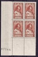BLOC DE QUATRE  N* 767 ( Numéroté 87144) NEUF** - Unused Stamps