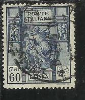 LIBIA 1924 SIBILLA LIBICA DENT. PERF. 14 CENT. 60 C USATO USED OBLITERE´ - Libya