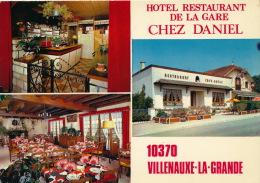 "VILLENAUXE LA GRANDE - Hôtel Restaurant De La Gare "" CHEZ DANIEL "" - France"