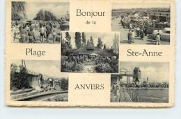 ANVERS - Bonjour De La Plage Sainte Anne Anvers, Carte Multivues. (carte Vendue En L'état) - Antwerpen