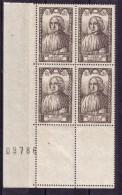 BLOC DE QUATRE  N* 769 ( Numéroté 09786) NEUF** - Unused Stamps