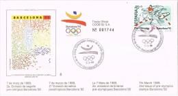 12146. Carta BARCELONA 1989. Barcelona 92 Olimpiadas, Preolimpico. Hipica - 1931-Hoy: 2ª República - ... Juan Carlos I