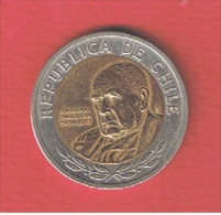 CHILI--- 500  Pesos 2202  --   Km # 235  ---   état  TTB+ - Chile