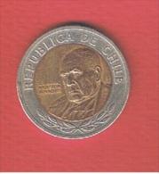 CHILI--- 500  Pesos 2001 --   Km # 235  ---   état  TTB+ - Chile