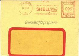 Nice Cut Meter Fur Alle Kraftfahrer SHELL Reisedienst, Nurnberg 25/10/1934 - Transportmiddelen