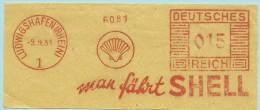 Nice Cut Meter Man Fahrt  SHELL Ludwigshafen (Rhein) 9/9/1931 - Scheikunde